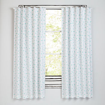 "Go Lightly Mint Triangle 63"" Blackout Curtain"