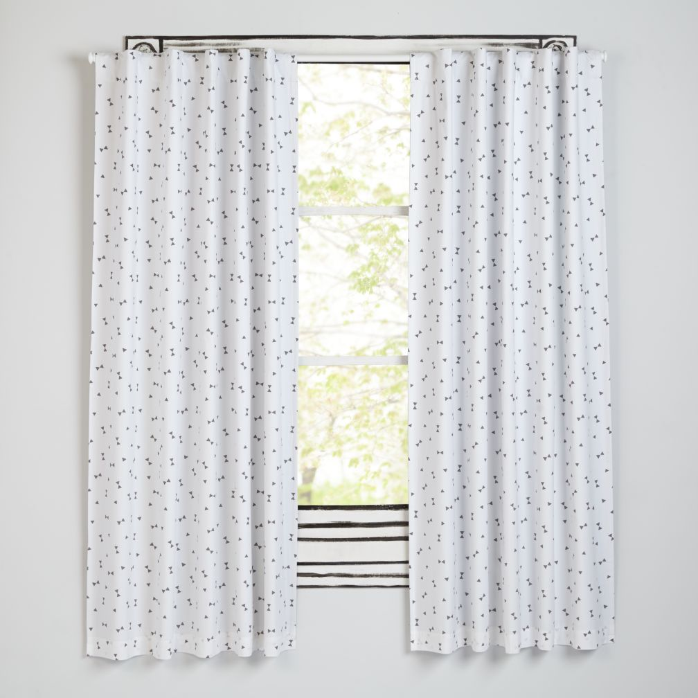 Go Lightly Grey Triangle Blackout Curtains