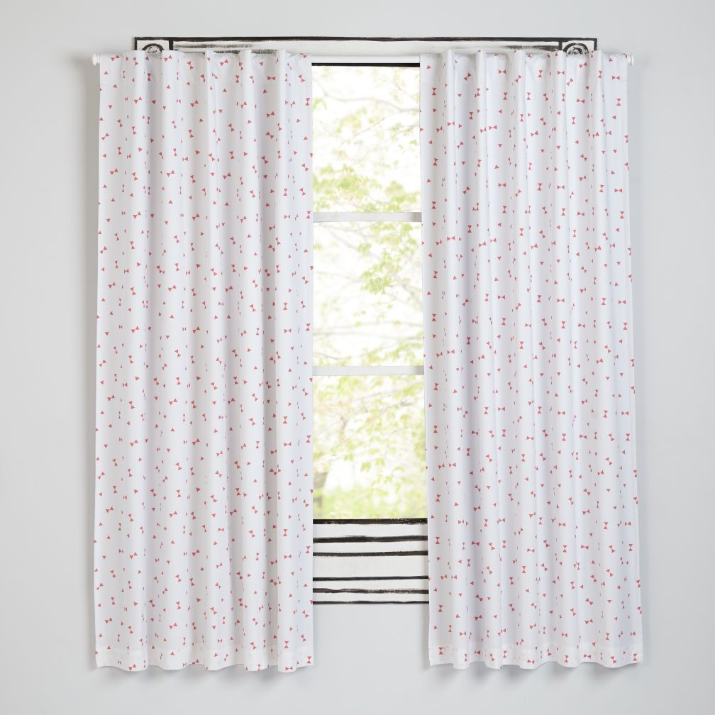 Go Lightly Pink Triangle Blackout Curtains