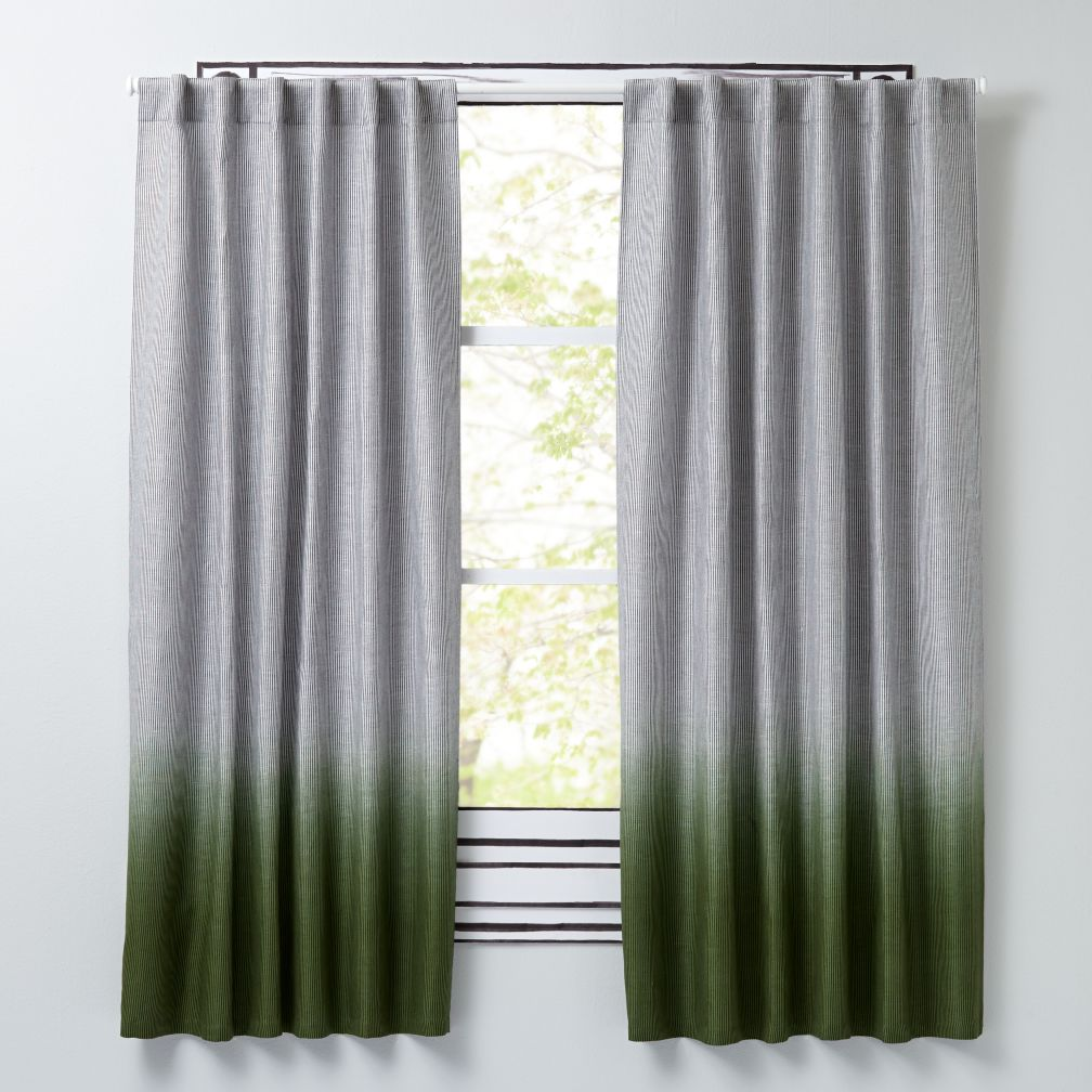 Half Dipped Green Curtains