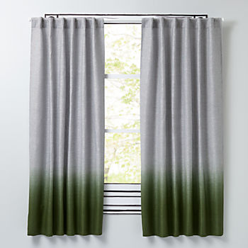 "Half Dipped Green 63"" Curtain"