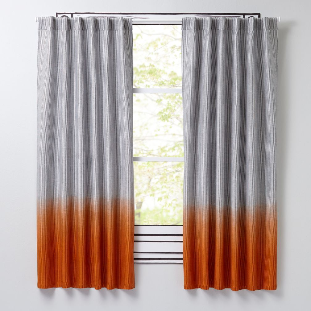 Half Dipped Orange Curtains