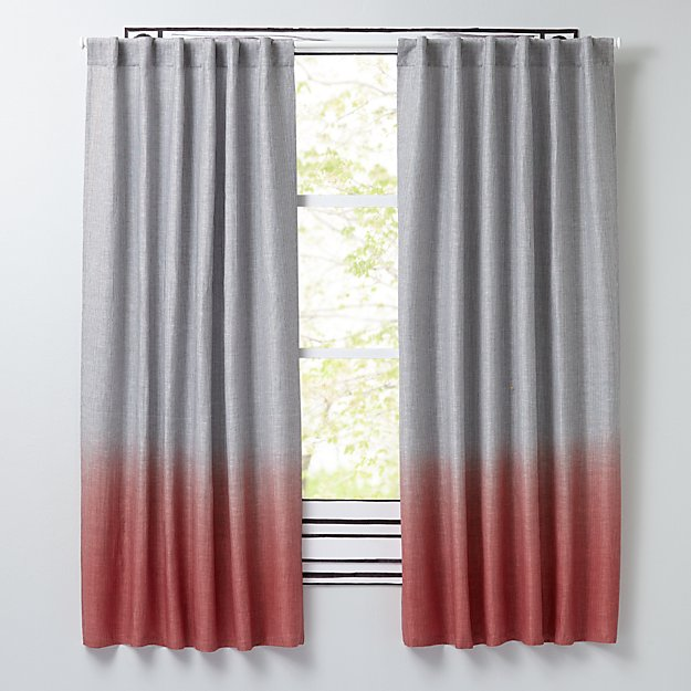 "Half Dipped Pink 84"" Curtain"