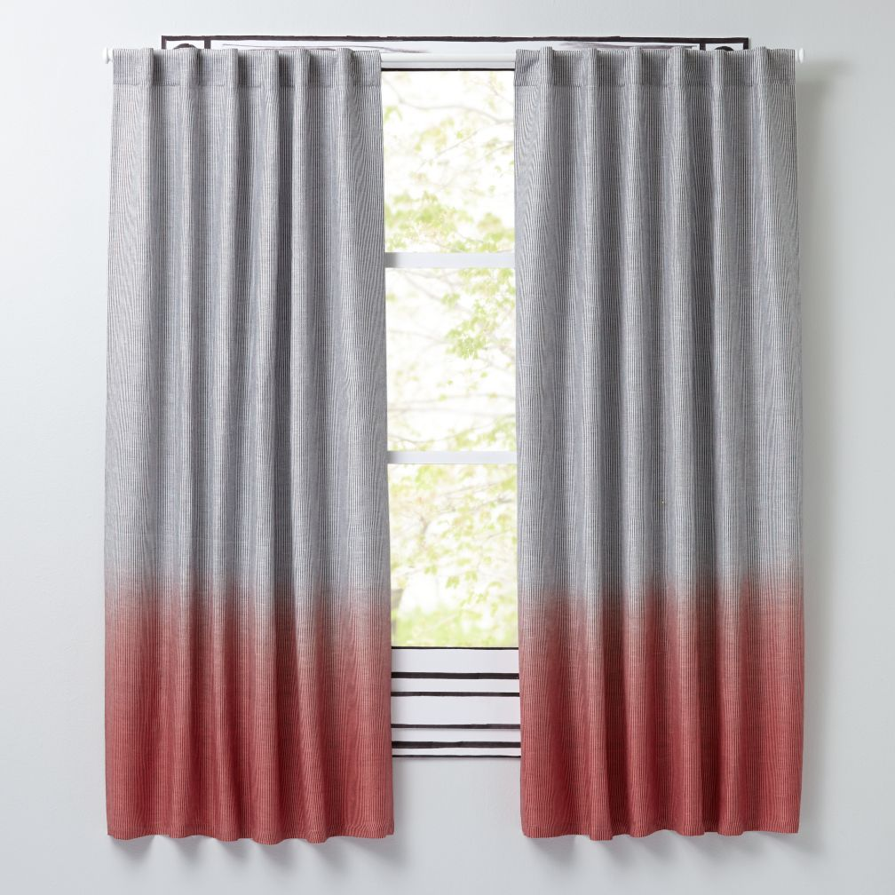 Half Dipped Pink Curtains