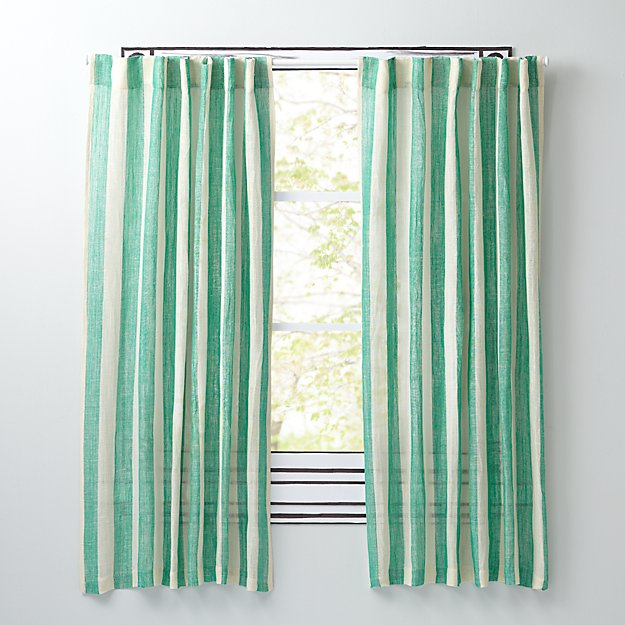 "Line Up Green 63"" Curtain"