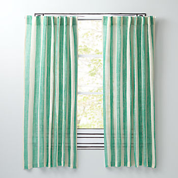"Line Up Green 96"" Curtain"