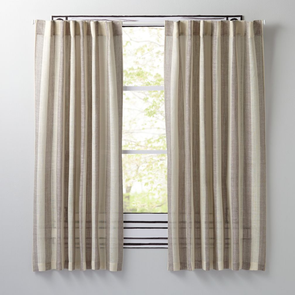 "Line Up Grey 96"" Curtain"