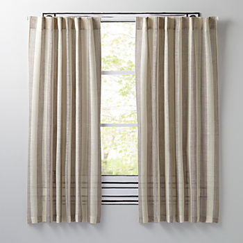 "Line Up Grey 84"" Curtain"