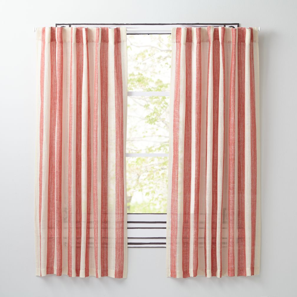 "Line Up Red 63"" Curtain"