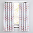 """Little Prints Orange Triangle 63"""" Blackout Curtain(Sold Individually)"""
