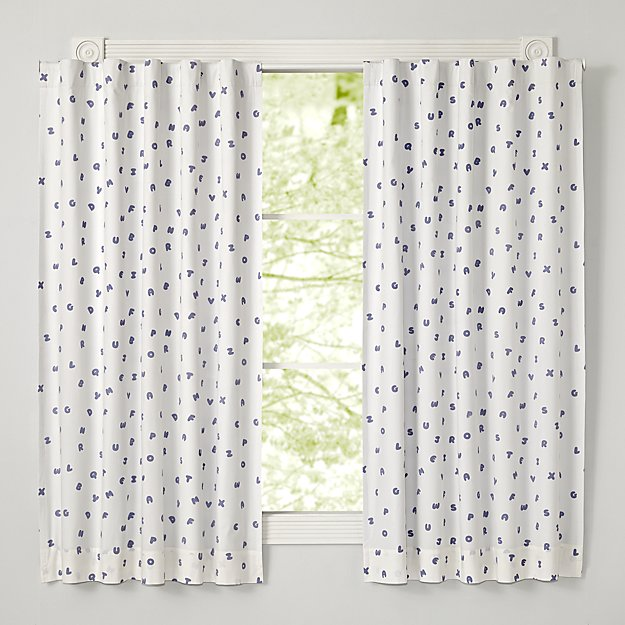 "Lavender Alphabet 63"" Blackout Curtain"