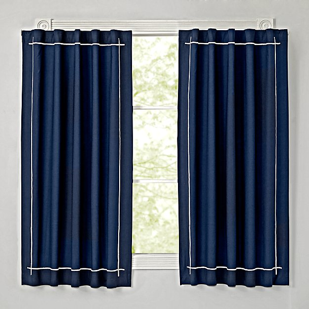 genevieve gorder navy 63 blackout curtain the land of nod. Black Bedroom Furniture Sets. Home Design Ideas