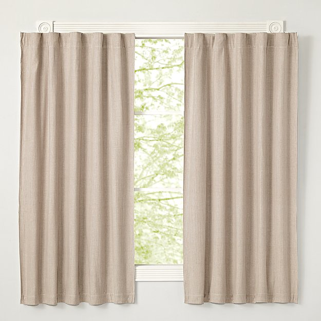 Grey Striped Blackout Curtains The Land Of Nod