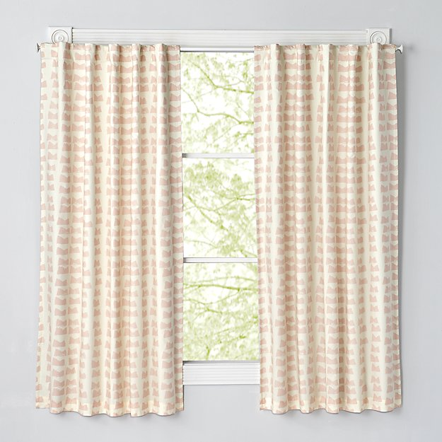 Daily Sketch Pink Blackout Curtains | The Land of Nod