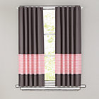 "New School Pink Stripe 96"" Curtain(Sold Individually)"