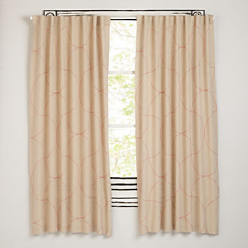 "Dash of Pink 96"" Curtain"