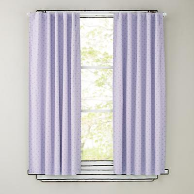 "96"" Lavender Polka Dot Curtain Panels"