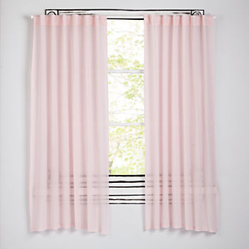 "Ripple Pink 84"" Curtain"