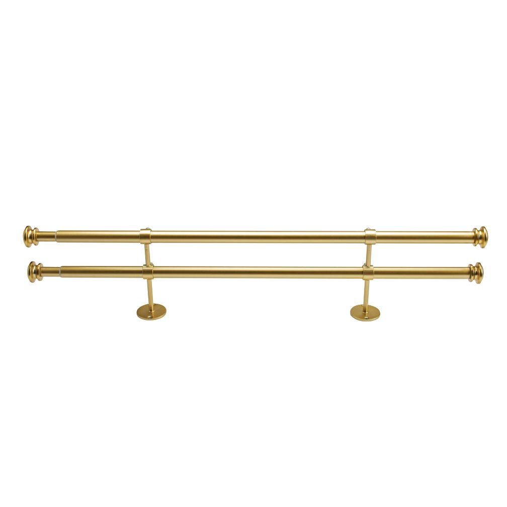 "28-48"" Button Cap Double Rod (Gold)"