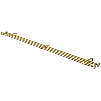 "Double Gold 48-84"" Curtain Rod"