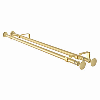 "Double Gold 28-48"" Curtain Rod"
