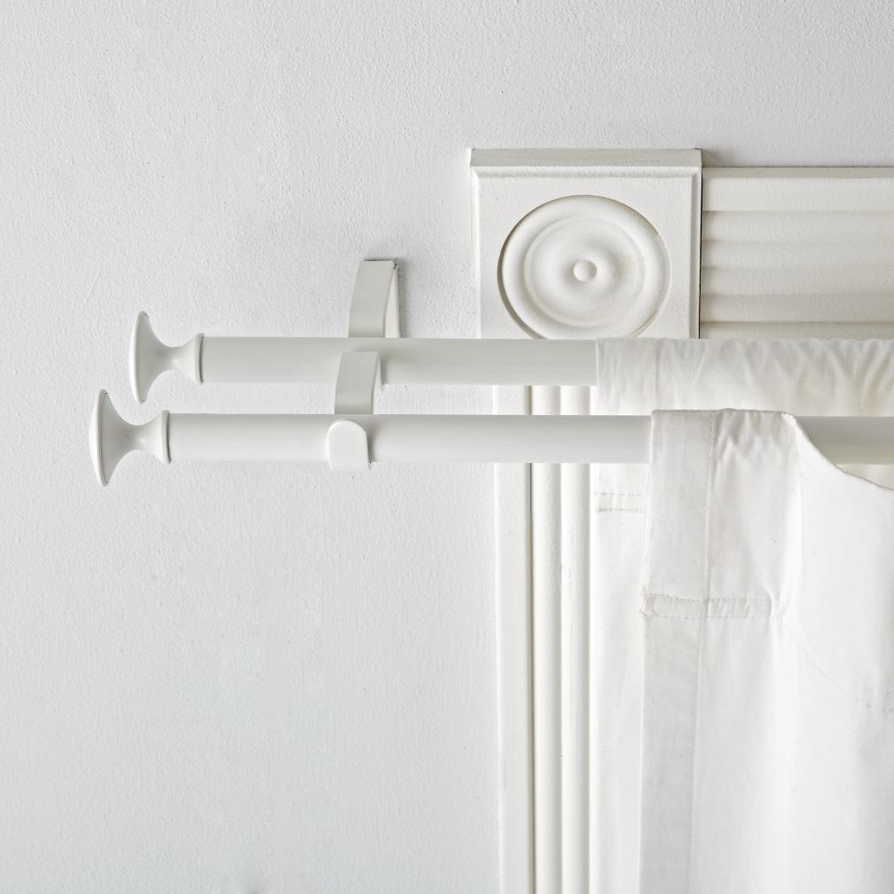 Double White Curtain Rod The Land Of Nod