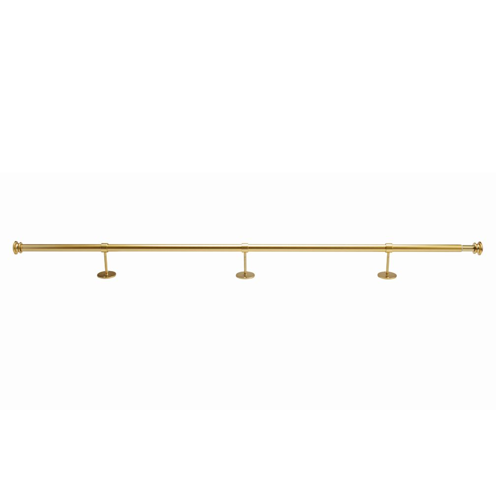 "48-84"" Gold Button Cap Single Rod"