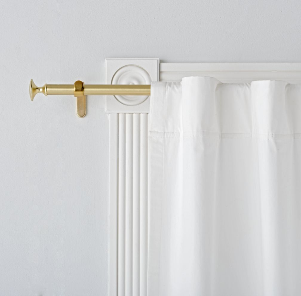 white curtain rod