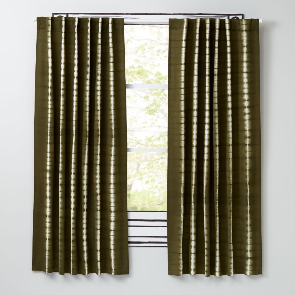 "Tie-Dye Green 63"" Curtain"