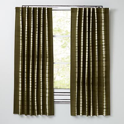 "96"" Tie-Dye Curtain (Green)"