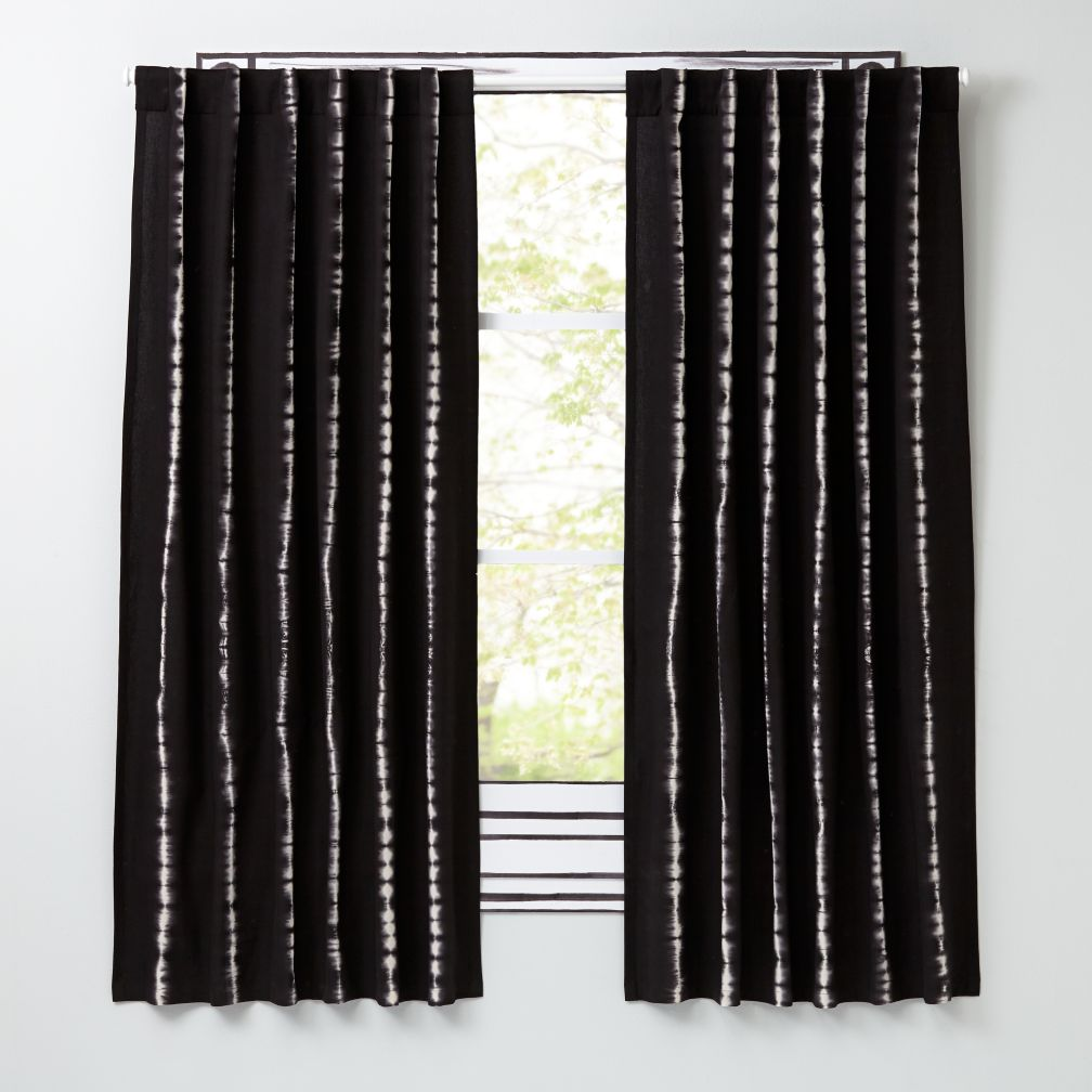 "Tie-Dye Grey 84"" Curtain"