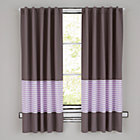 "New School Purple Stripe 96"" Curtain(Sold Individually)"