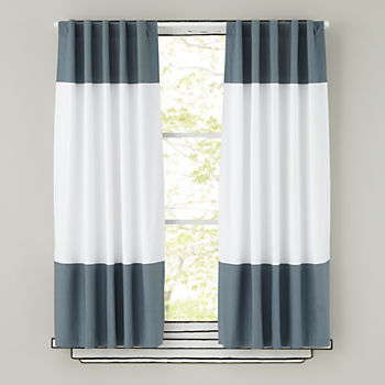 "Color Edge Grey 63"" Curtain"