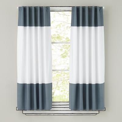 Color Edge Grey Curtains