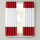 "Color Edge Red 96"" Curtain(Sold Individually)"