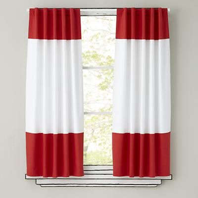 "63"" Color Edge Curtain (Red)"