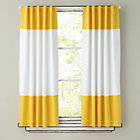 "Color Edge Yellow 84"" Curtain(Sold Individually)"