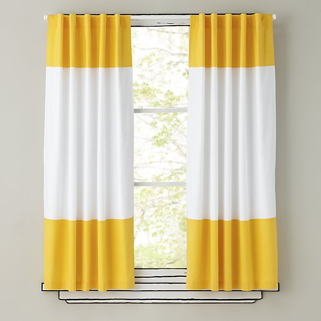 "Color Edge Yellow 63"" Curtain"