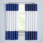 "Color Edge Dark Blue 63"" Curtain(Sold Individually)"