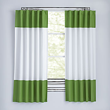 "Color Edge Dark Green 63"" Curtain"