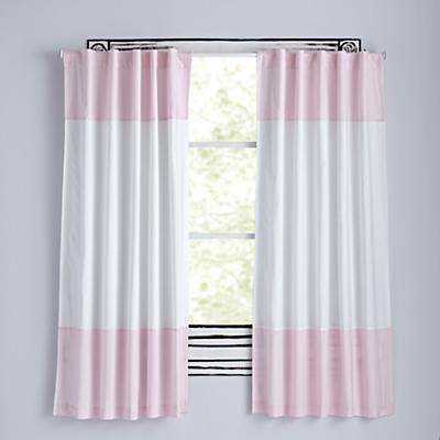 Color Edge Light Pink Curtains