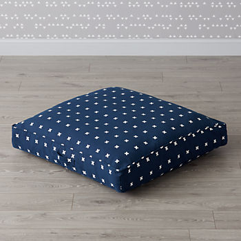 Navy Cross Print Teepee Floor Cushion
