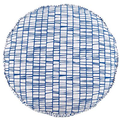 "32"" Blue Modern Cushion"