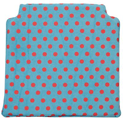 Storage Chair Cushion (Teal Dot)
