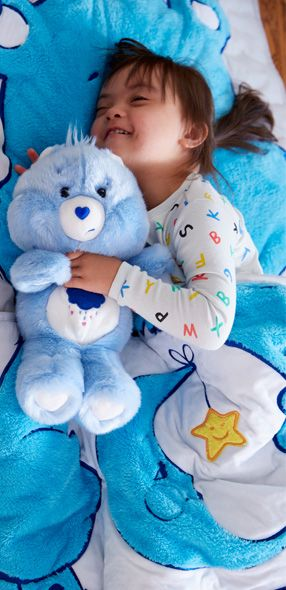 Care Bears Bear and sleeping bag close up