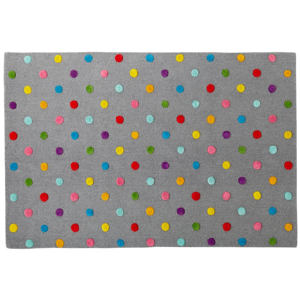 Kids Rugs Kids Multi Color Dot Candy Grey Rug The