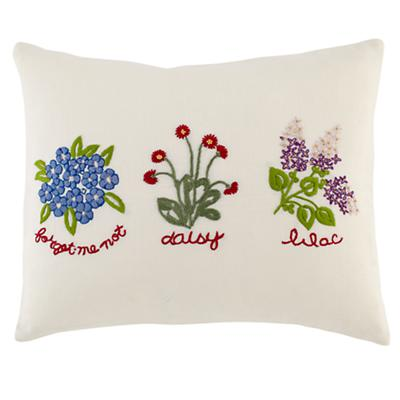Petit Château Linen Floral Throw Pillow