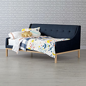 Gallery Navy Upholstered Daybed