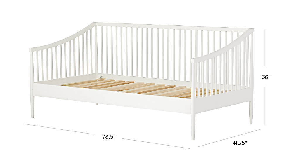 Hampshire White Spindle Daybed The Land Of Nod