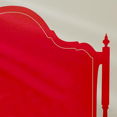 Olivia Queen Headboard Decal (Red)